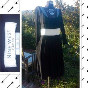 Nine West beautifl Black&white dress sz14 slimming